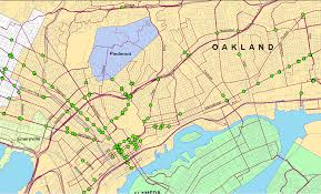 Oakland Map Ac Transit Meeting Redistricting Bus Shelters U0026 51a 51b