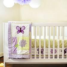 Lavender Butterfly Crib Bedding Pam Grace Creations 10 Crib Bedding Set