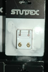 studex sleepers pale pink colour ear studs for sensitive ears
