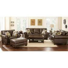 Sofa And Loveseat Leather Gavin 4 Piece Top Grain Leather Set