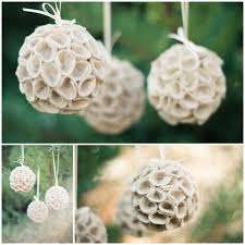 diy felt hanging wedding ornaments from strawberry chic and