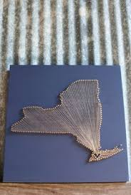 custom order home state nail and string art sign home state and