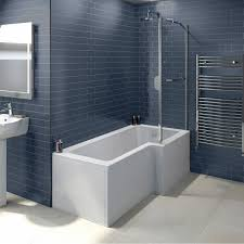 orchard l shaped right handed shower bath 1500mm with 6mm shower boston shower bath 1500 x 850 rh inc