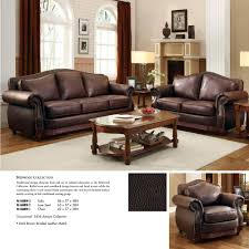 Homelegance Midwood  Piece Living Room Set In Dark Brown Leather - Three piece living room set