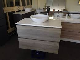bogetta 900mm light grey oak timber wood grain bathroom vanity