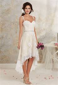 wedding dresses high front low back stunning lace high low wedding gown ideas for brides