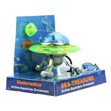 decor ufo aquarium air effect decoration underwater fish