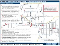 Phoenix Freeway Map by Adot Weekend Freeway Travel Advisory Feb 24 27 3tv Cbs 5