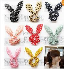 ponytail holder bracelet online cheap fashion women girl sweet rabbit ear hair bands tie