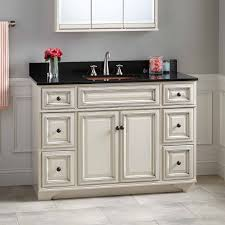 white bathroom vanity cabinet 48 misschon vanity for rectangular undermount sink antique white