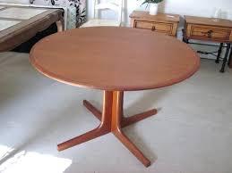 modest decoration round teak dining table sumptuous design danish