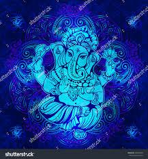 Ganesh Puja Invitation Card Vector Isolated Image Hindu Lord Ganesh Stock Vector 480265060
