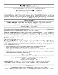 resume of project manager resume template 2017