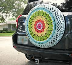 tire cover for honda crv rainbow crocheted spare tire cover by tristinandcompany