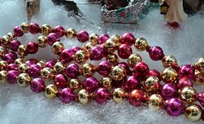 vintage mercury glass bead tree garland