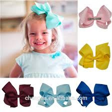 cheap hair bows wholesale 2016 hot sales baby hair bow 6 inch grosgrain