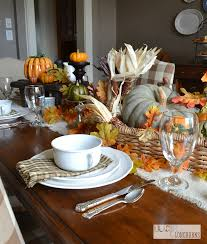Fall Table Runners by Easy No Sew Napkins And Runner Thankful At Home Blog Tour