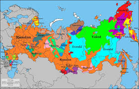russia map map showing different languages spoken in russia 1024 658