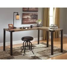 multi tiered l shaped desk signature designashley dexifield l shaped desk create your sauder
