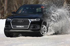 Audi Q7 Grey - ice breaker behind the wheel of the 2015 audi q7