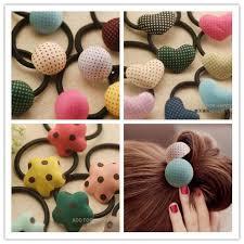 polka dot hair mix heart polka dot hair band hair rings for kids and