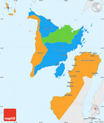 Blank Color World Map by Political Simple Map Of Region 6 Single Color Outside