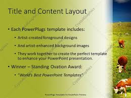 powerpoint template natural beauty with farm animals 1868