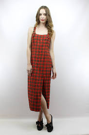 90s dress 90s plaid maxi dress 90s plaid dress tartan plaid dress 90s
