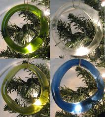 recycled glass ornament