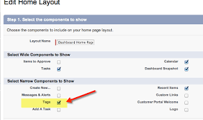 Home Layout How To Setup Salesforce Tags Searching Reporting Limits