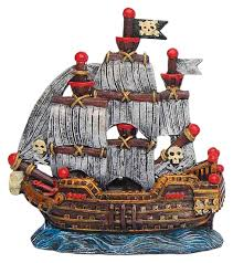 pirate sailing ship aquarium fish tank ornament