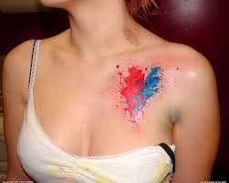 abstract heart tattoo inspiration pinterest heart tattoos