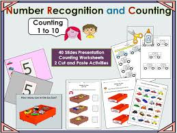 counting presentation numbers 1 to 10 2 cut and paste activities