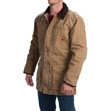 carhartt canyon sandstone duck coat for men