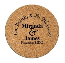 wedding favor coasters wedding favors coasters 150 cork drink coasters custom