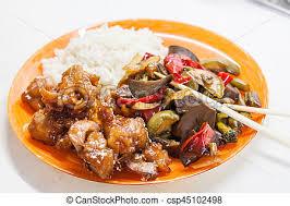 cuisine asiatique poulet doux légumes aigre asiatique poulet riz teriyaki