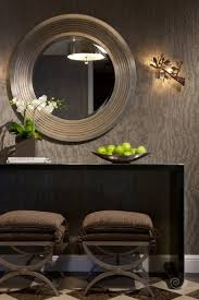 bathroom grainy wood wallpaper contemporary powder room