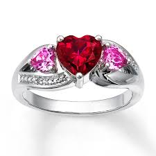 ruby sterling rings images Kay lab created ruby ring lab created sapphires sterling silver jpg