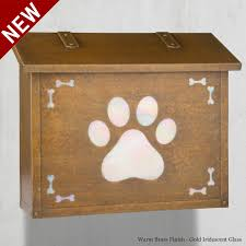 themed mailbox dog paw large wall mount mailbox america s finest mailbox co