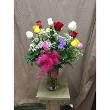Multi Colored Roses Dozen Multicolored Roses By Park Florist In Martinez Ca Park