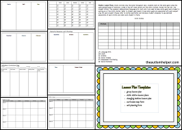 special education must have forms and templates data sheets