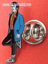 Teddy Boy Drape Boy Ted Lapel Hat Tie Metal Pin Badge Rock And Roll Brooch Drape
