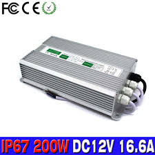 low voltage outdoor lighting transformers power supply dc 12v 16 6v 200w ip67 waterproof electronic led