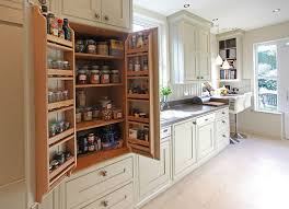 bespoke kitchen ideas bat wing pantry cabinet in galley kitchen bespoke small kitchens