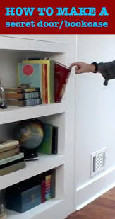 How To Make A Secret Bookcase Door Bookcase Diy Outswing Hidden Bookcase Door Build Hidden Door