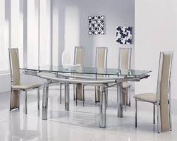 Black Extending Dining Table And Chairs Luxurious Glass Extendable Dining Table And 6 Chairs 5770 At