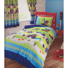 childrens boys girls single bed duvet set new diggers bedding