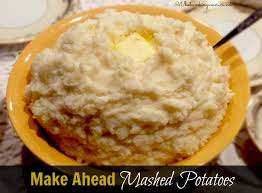 make ahead mashed potatoes recipe mashed potatoes