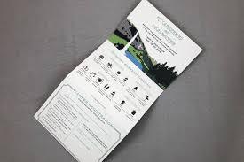 tri fold invitations oregon waterfall c wedding trifold invitation with perforated