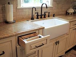 Colored Kitchen Faucet Modern Farmhouse Sink W Cream Cabinets U0026 Granite Countertops